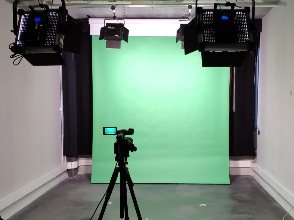 Set de càmera, colorama i llums