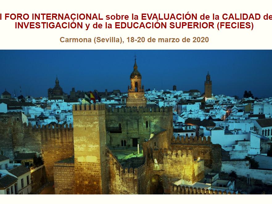 XVII Fòrum Internacional sobre la Evaluació de la Qualitat de la Investigació i l'Educació Superior (FECIES)
